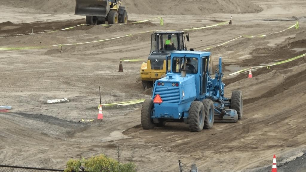 Heavy Equipment At Jobsite